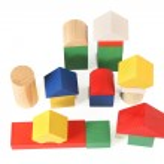 Wood toy city — Stock Photo