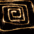 Sparkler spiral square - Stock Photo