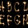 Stock Photo: Alphabet sparkler (see other letters in my portfolio)