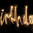 Royalty-Free Stock Photo: Birthday sparkler (you can see other words in my portfolio)