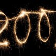 2007 sparkler — Stock Photo