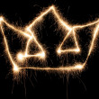 Crown sparkler — Stock Photo