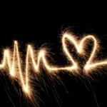 fala serca brylant — Zdjęcie stockowe #3643410