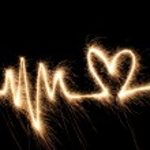 Bengala de corazón de onda — Foto de Stock   #3643410