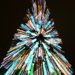 Zooming cristmas tree — Stock Photo