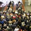 Escalator crowd - Foto Stock