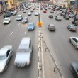 Stock Photo: Many cars on big moscow road
