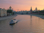 Moscow river kremlin — Stock Photo