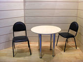Chairs and table — Stock Photo