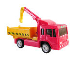 Truck with crane toy — Stock Photo