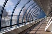Bagration's bridge. moscow city — Stock Photo