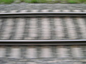 Motion train way — Stock Photo