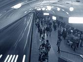 Multitud de metro — Foto de Stock