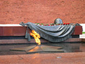 Grave of Unknown soldier of Second World War. Kremlin wall. Moscow. — Stock Photo