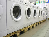 Washers in shop — Stock Photo