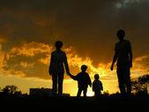 Rodziny cztery słońca 3 — Zdjęcie stockowe