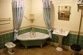 Green bathroom 2 — Stock Photo
