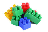 Stack of colorful building blocks - no trademarks — Stockfoto