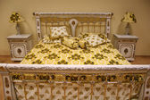 Luxurious bed — Stock Photo