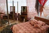 Bedroom with big window — Stock Photo