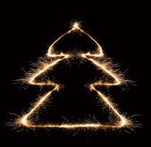 線香花火のクリスマス ツリー 2 — ストック写真