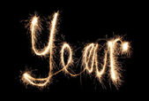 Year sparkler (you can see other words in my portfolio) — Stock Photo
