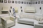 Weissen sofas — Stockfoto
