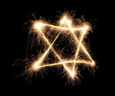 Jewish sparkler — Stock Photo