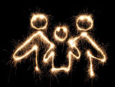 Family symbol sparkler — Stock Photo