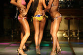 Girls body in night club — Stock Photo