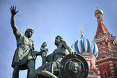 Statue of Kuzma Minin and Dmitry Pozharsky in Moscow — Stock Photo