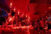 Red bar interior — Stock Photo