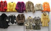 Child fur in shop — Stock Photo