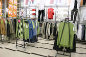 Male clothes in shop — Stock Photo