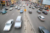 Many cars on big moscow road — Stock Photo