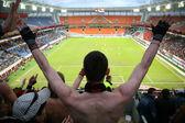 Seyirci futbol tarihinde — Stok fotoğraf