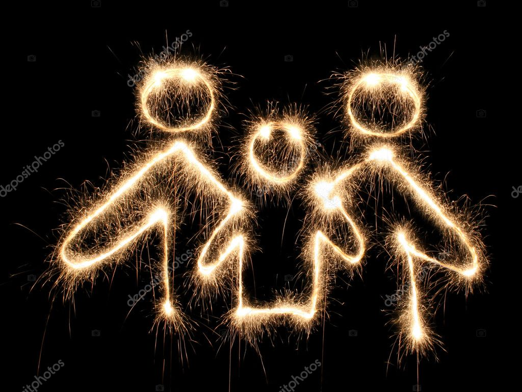 Family symbol sparkler — Stock Photo #3643306