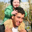 Baby on father's shoulders 2 — Stock Photo #3684845