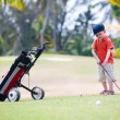 Young golfer — Foto Stock