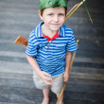 Boy on vacation — Stock Photo