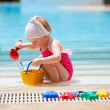 Little girl on vacation - Stock Photo