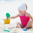 Toddler girl on vacation — Stock Photo