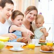 Stock Photo: Family breakfast