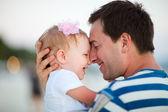 Otec a dcera — Stock fotografie