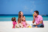 Family on vacation — Foto Stock