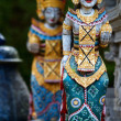 Stock Photo: Two Balinese statues