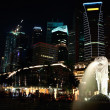 Royalty-Free Stock Photo: Night view of Singapore city