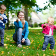 Family outdoors — Stock Photo #3724236