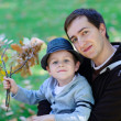 Father and son outdoors — Stock Photo #3724261