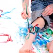 Boy painting - Stock Photo